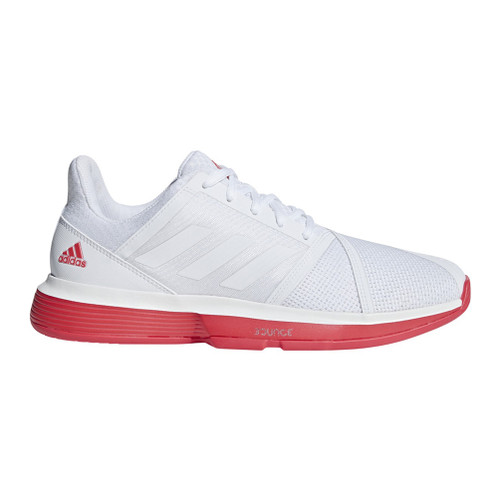 Adidas Men's CourtJam Bounce Tennis Shoe White/Shock Red - Shop now @ Shoolu.com
