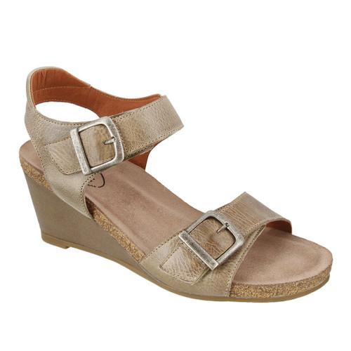 Taos Women's Buckle Up Wedge Sandal Stone - Shop now @ Shoolu.com