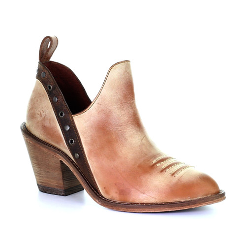 Corral Heritage Women's F1197 Ankle Bootie Honey/Bronce - Shop now @ Shoolu.com