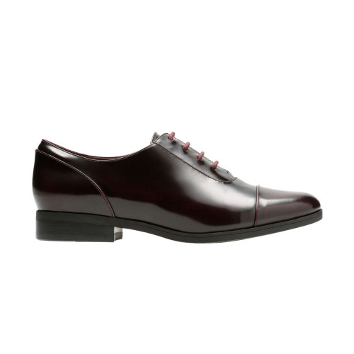Clarks Women's Tilmont Ivy Oxford Burgundy Leather - Shop now @ Shoolu.com