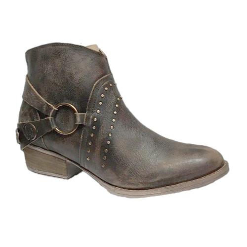 Circle G By Corral Women's LD Harness & Studs Ankle Boot Chocolate - Shop now @ Shoolu.com