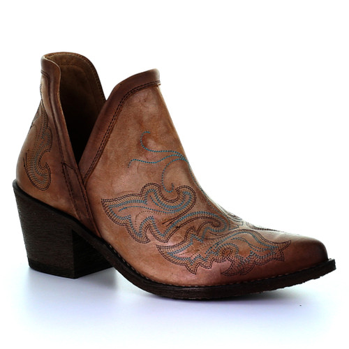 Circle G By Corral Women's LD Embroidery Bootie Cognac - Shop now @ Shoolu.com