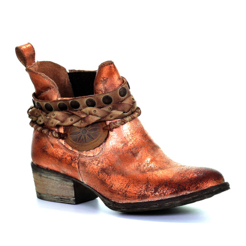 Circle G By Corral Women's LD Harness & Woven Ankle Boot Rose - Shop now @ Shoolu.com