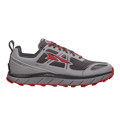 Altra Men's Lone Peak 3.0 Neoshell Trail Runner Gray/Red - Shop now @ Shoolu.com