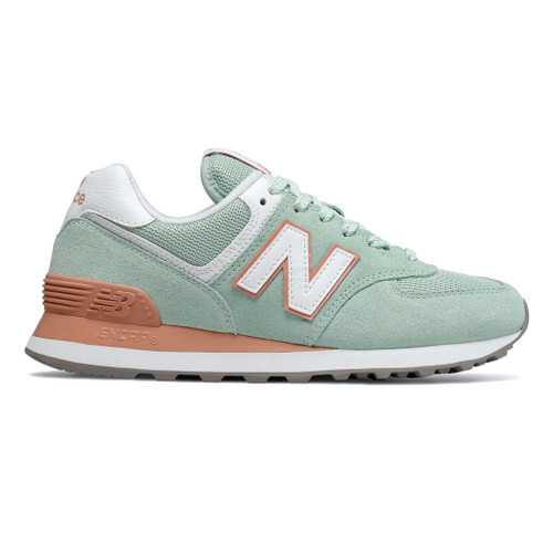 New Balance Women's WL574ESE Sneaker White Agave/Faded Copper - Shop now @ Shoolu.com