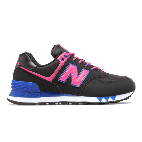 New Balance Women's WL574JOA Sneaker Black/Pink - Shop now @ Shoolu.com