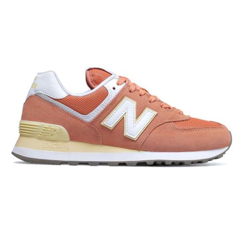 New Balance Women's WL574ESF Sneaker Faded Copper/Sun Glow - Shop now @ Shoolu.com