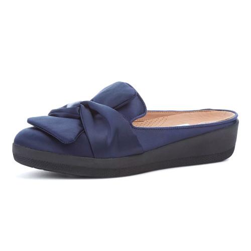 Fitflop Women's Superskate Knot Slip On Midnight Navy - Shop now @ Shoolu.com