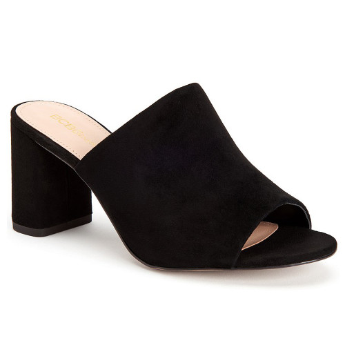 BCBG Women's Beverly Sandal Black Suede - Shop now @ Shoolu.com
