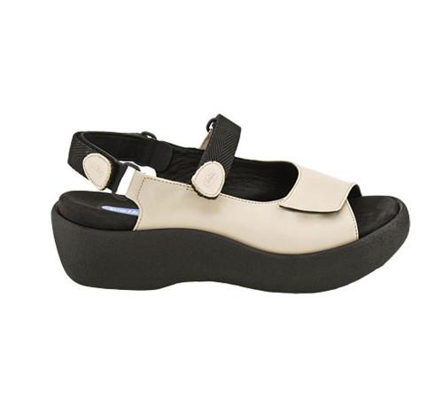 Wolky Women's Jewel Sandal Linen Smooth - Shop now @ Shoolu.com