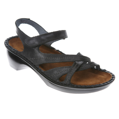 Naot Paris Sandals Black Madras Leather Ladies - Shop now @ Shoolu.com