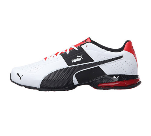 Puma Men's Cell Surin 2 FM Sneaker White/Black/Flame Scarlet - Shop now @ Shoolu.com