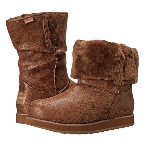 Skechers Women's Keepsakes Leatheresque Boot Chestnut - Shop now @ Shoolu.com