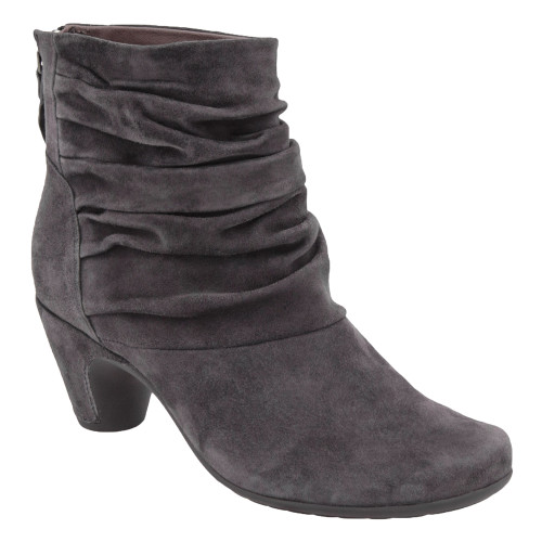 Earthies Women's Vicenza Ankle Boot Slate Suede - Shop now @ Shoolu.com