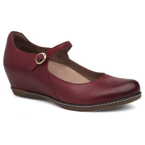 Dansko Women's Loralie Mary Jane Red Burnished Nubuck - Shop now @ Shoolu.com