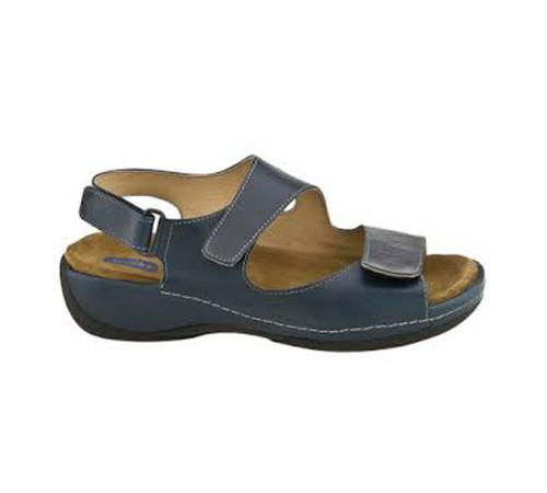 Wolky Women's Liana Sandal Marine Blue Smooth - Shop now @ Shoolu.com