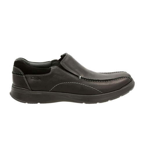 Clarks Men's Cotrell Step Slip On Black Oily Leather - Shop now @ Shoolu.com
