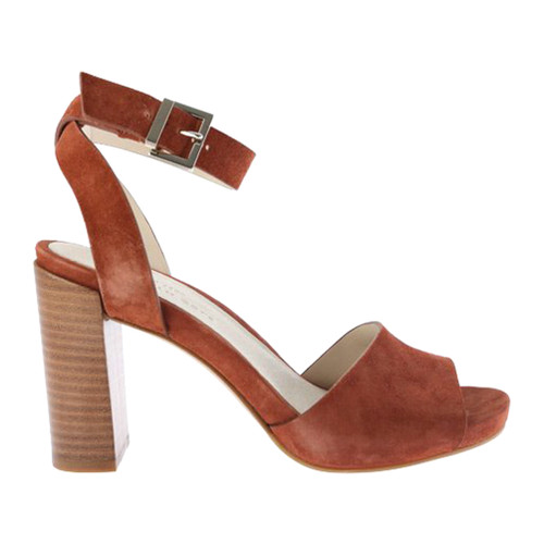 Kenneth Cole  York Women's Toren Sandal Rust Suede - Shop now @ Shoolu.com