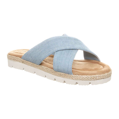 Bearpaw Women's Evelyn Slide Sandal Denim Blue - Shop now @ Shoolu.com