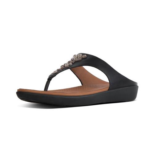 Fitflop Women's Banda II Leather Thong Black - Shop now @ Shoolu.com