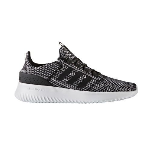 Adidas Women's Cloudfoam Ultimate Running Shoe Black/White - Shop now @ Shoolu.com