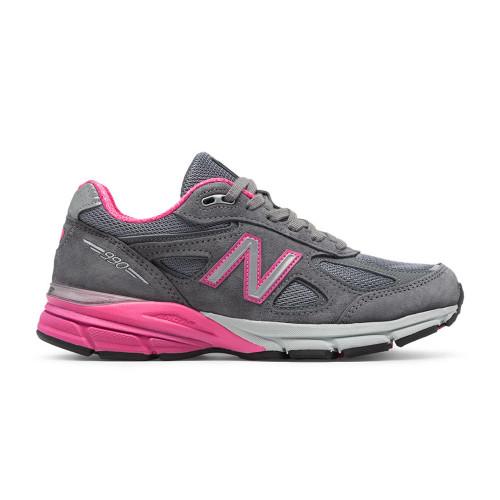 New Balance Women's W990GP4 Running Shoe Grey/Pink Zing - Shop now @ Shoolu.com