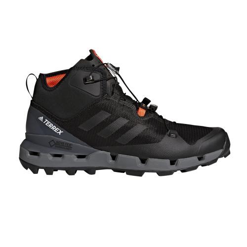 Adidas Men's Terrex Fast Mid GTX-Surround Hiking Boot Black/Grey - Shop now @ Shoolu.com