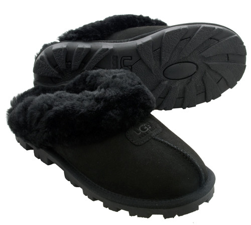 UGG Coquette Black Ladies Slippers - Shop now @ Shoolu.com