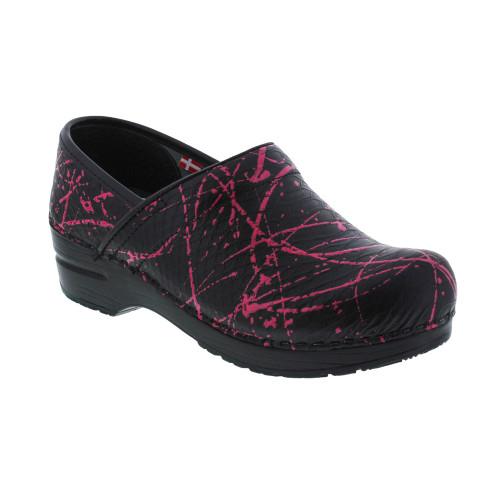 Sanita Women's Original Professional Primrose Clog Black/Pink - Shop now @ Shoolu.com