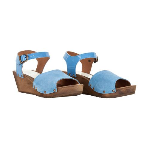Sanita Women's Edel Wedge Flex Sandal Blue - Shop now @ Shoolu.com