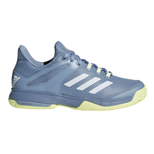 Adidas Kid's adiZero Club Tennis Shoe Blue/Yellow - Shop now @ Shoolu.com