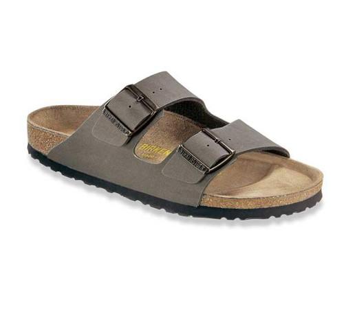 Birkenstock Unisex Arizona Sandals Stone Birkibuc - Shop now @ Shoolu.com