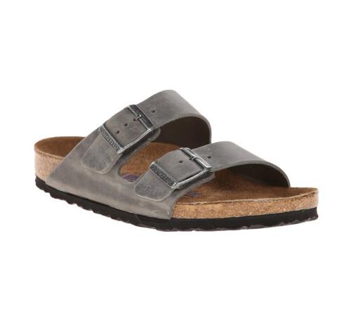 Birkenstock Men's Arizona SF Sandal Iron Waxy Leather - Shop now @ Shoolu.com