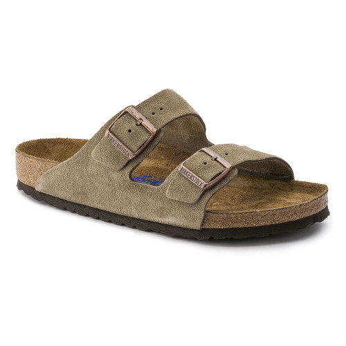 Birkenstock Unisex Arizona SF Sandal Taupe Suede 951301 - Shop now @ Shoolu.com