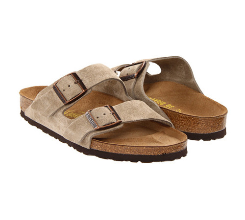 Birkenstock Unisex Arizona SF Sandal Taupe Suede 951303 - Shop now @ Shoolu.com