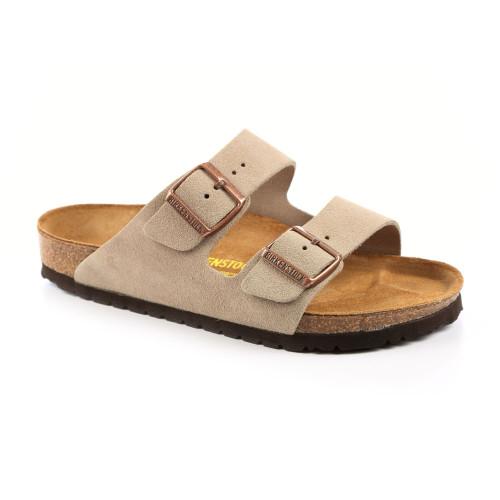 Birkenstock Unisex Arizona Sandal Taupe Suede - Shop now @ Shoolu.com