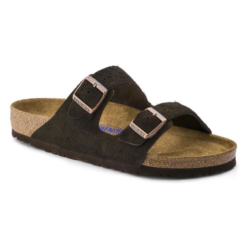 Birkenstock Men's Arizona SF Slide Mocha Suede - Shop now @ Shoolu.com