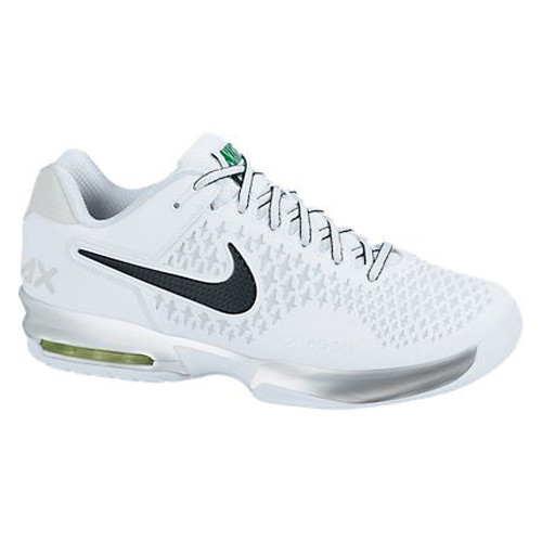 official photos e82d4 afe27 Nike Air Max Cage White Blk Green Mens Tennis Shoes - Shop now