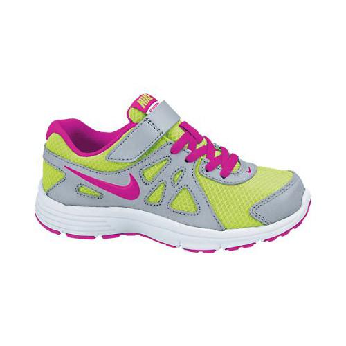6775ddf89f Nike Revolution 2 Volt/Pink Girls Athletic Shoes - Shop now @ Shoolu.com
