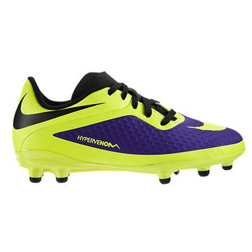 newest c0c6b 72d20 Nike JR Hypervenom Phelon FG Purple Volt Boys Soccer Cleats - Shop now    Shoolu