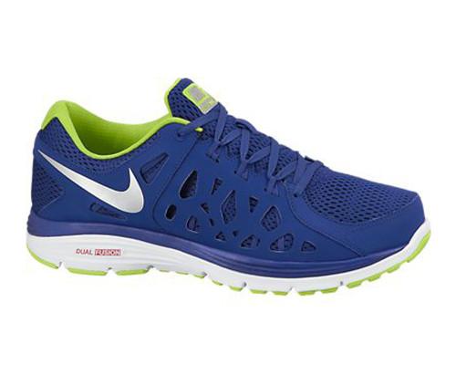 ac5b363725b4d Nike Men s Dual Fusion Run 2 Running Shoes Royal Blue Volt - Shop now