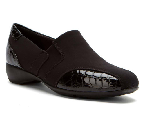 Clarks Women's Noreen Will Slip Ons Black Fabric - Shop now @ Shoolu.com