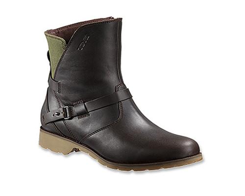 e7bfd862a337 Teva Women s De La Vina Low Leather Canvas Boot Brown  ...