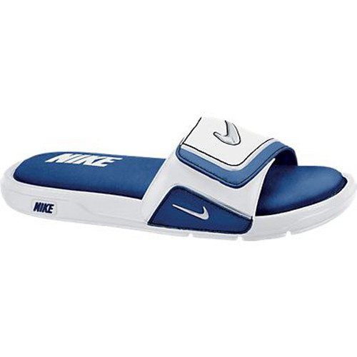de43b677114b6 Nike Comfort Slide 2 White Royal Mens Sandals - Shop now   Shoolu.com