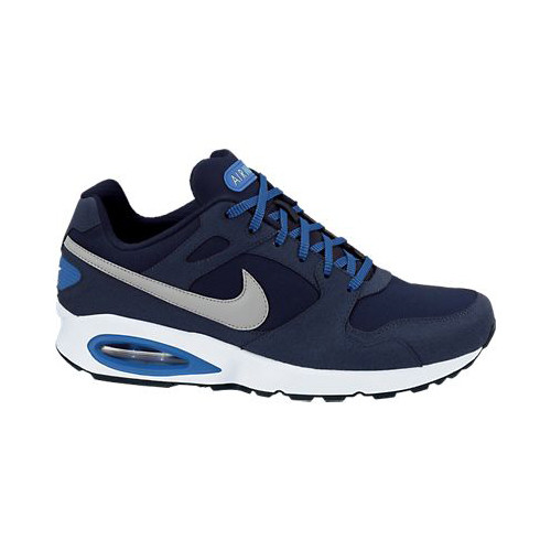 nike air max coliseum racer leather blue silver mens running shoes rh shoolu com