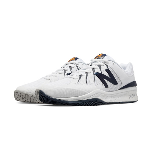 New Balance Men's MC1006BW Tennis Shoe White/Navy - Shop now @ Shoolu.com