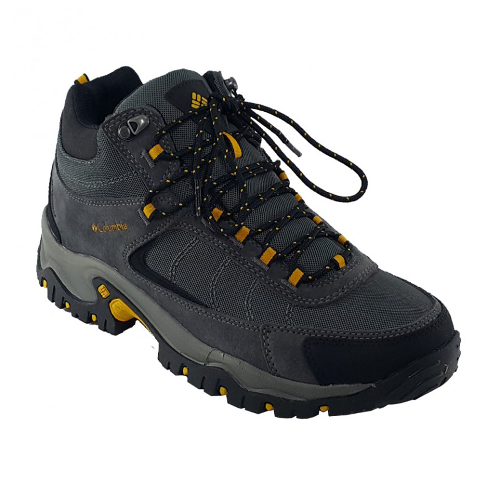 bb026242d850 Columbia Men s Granite Ridge Mid Waterproof Hiking Shoe Dark Grey Yellow -  Shop now