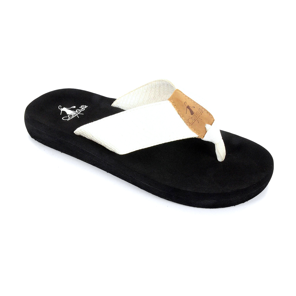 19b4dbe07d40 Corkys Women s Royal Flip Flop White - Shop now   Shoolu.com