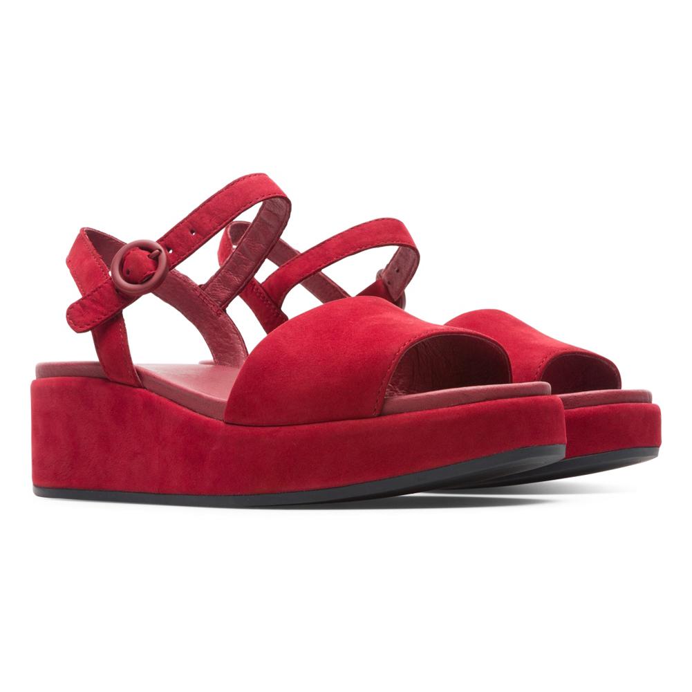 955e6d9e94a0 Camper Women s Misia Wedge Sandal Red - Shop now   Shoolu.com