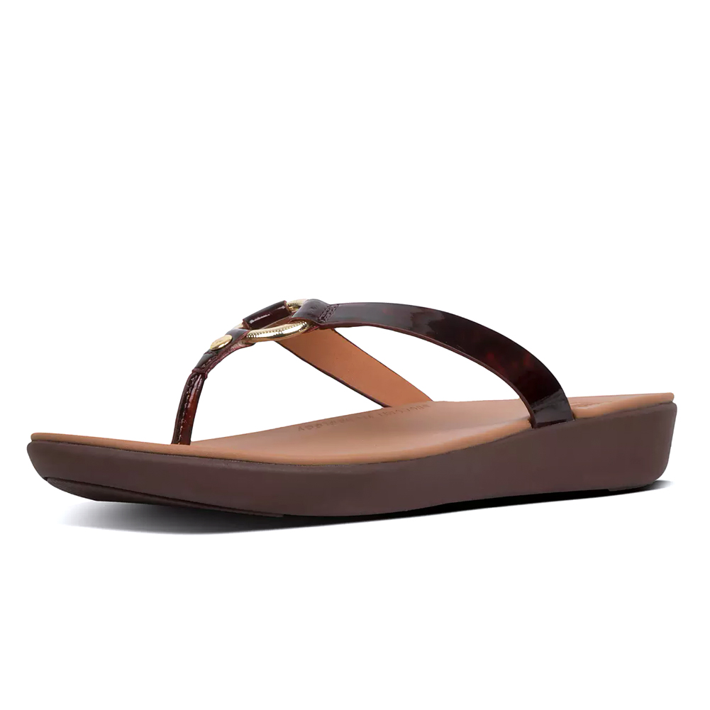 eadbc721e56f Fitflop Women s Hoopla Tortoiseshell Thong Sandal Chocolate Brown Turtle -  Shop now   Shoolu.com